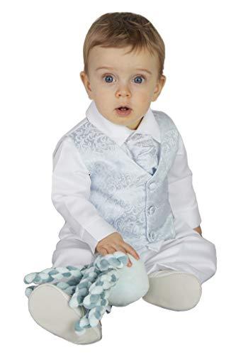V.C. Baby Jungen Taufanzug Babyanzug Festanzug 4tlg. blau-weiß 74