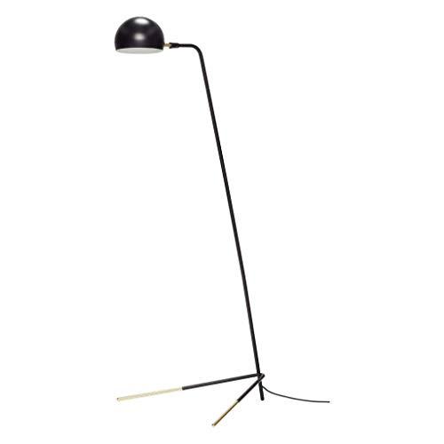 Mooie staande lamp, metaal, zwart/messing 62x80xh150cm, E27/15W/EU-plug