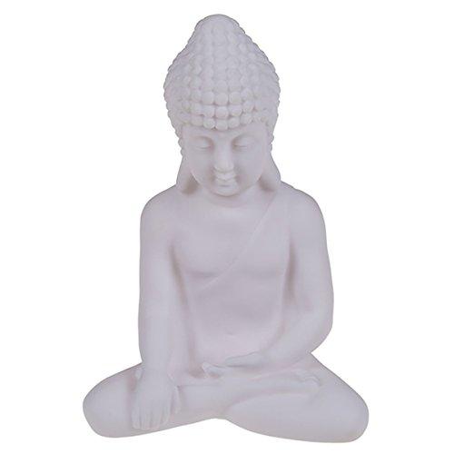 LED Lichtdeko Weißer Buddha