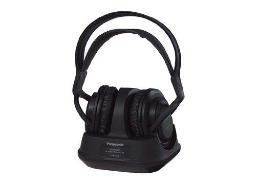 Panasonic RP-WF820E-K Funk-Kopfhörer mit Ladestation (Stereo Sound, 20 h Betriebszeit, 100 m Reichweite) schwarz