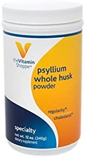Psyllium Whole Husks Powder – Fiber Supplement That Supports Regularity Healthy Cholesterol, Easy Mixing Powder – 68 Servi...