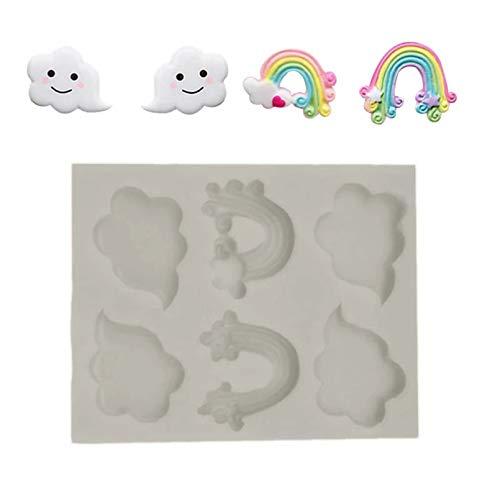 HHAA 3D Sugarcraft DIY Kuchen Dekorationswerkzeuge Regenbogen Wolkenform Fondant Cutter Kuchen Werkzeuge Cookie Biscuit Cake Mould Mould Craft