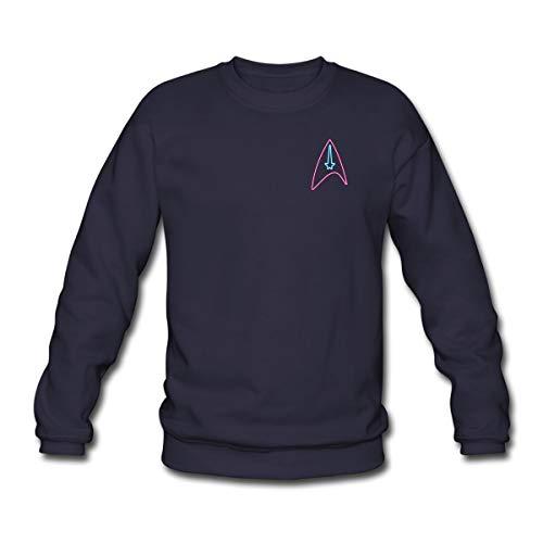 Star Trek Discovery Insigne Néon Sweat-Shirt Unisex, 3XL, Marine