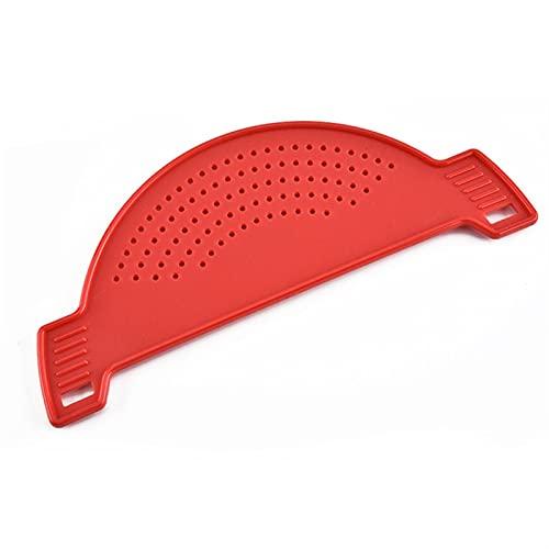 Silicone Colandas Clip de la cocina en el escurridor de colador de ollas para drenar el exceso de líquido Universidad de drenaje de drenaje utensilios de cocina vegetal (Color : Red)