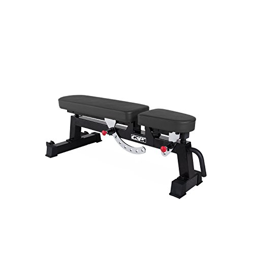 CAP Barbell Commercial Grade Weight Bench Flat/Incline/Decline Utility Exercise Olympic Workout Bench for Full Body Workout (Three-Way Utility Bench, Black)