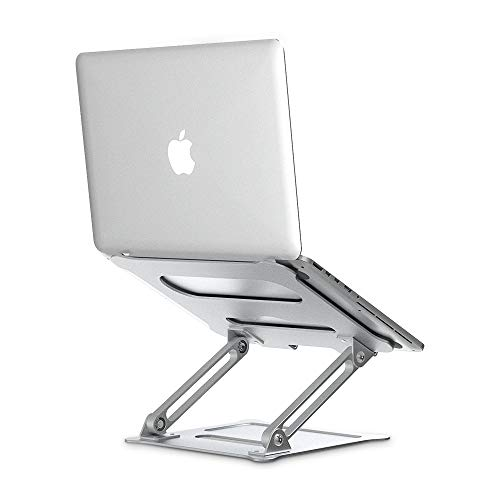 Laptop Notebook Stand,Elekin Foldable Laptop Stands Adjustable Notebook Holder Aluminum Laptop Riser Ergonomic Desktop Holder for Tablets, ipad, Notebook, MacBook Up tp 17''