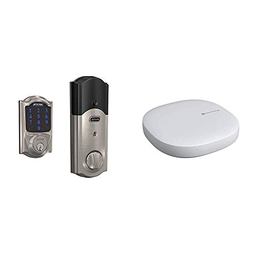 Schlage BE469ZP CAM 619 Connect Smart Deadbolt with Alarm with Camelot Trim...