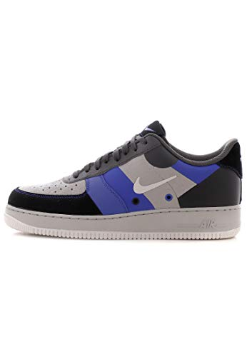 Nike AIR Force 1 '07 PRM 1 Atmosphere Grey/VAST Grey-Game ROYAL 41