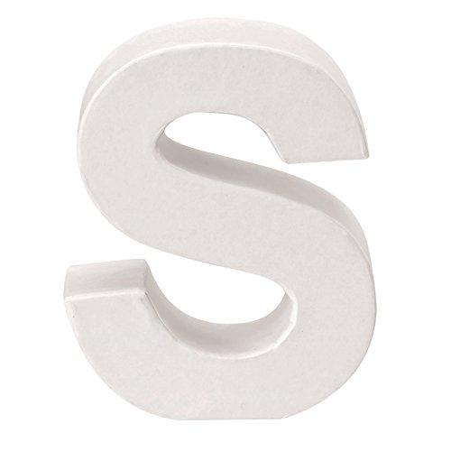 GLOREX Papp-Buchstabe S, FSC Mix, Weiß, 10 x 8 x 3,5 cm