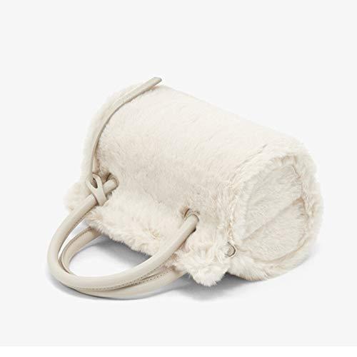 Borsa a tracolla moda donna Peluche del sacchetto morbido peluche messenger bag spalla portatile Adatto a varie scuole, viaggi, regali (Color : Green, Size : 14 inch)