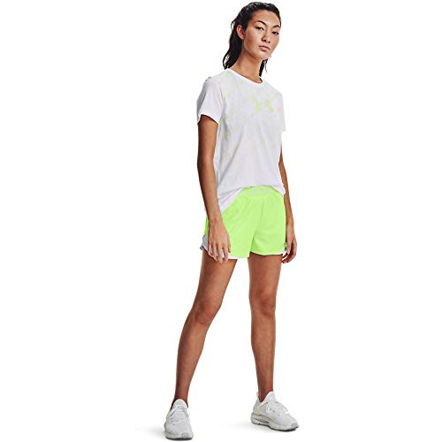 Under Armour Women's Play Up 3.0 Shorts , Summer Lime (162)/White , Large
