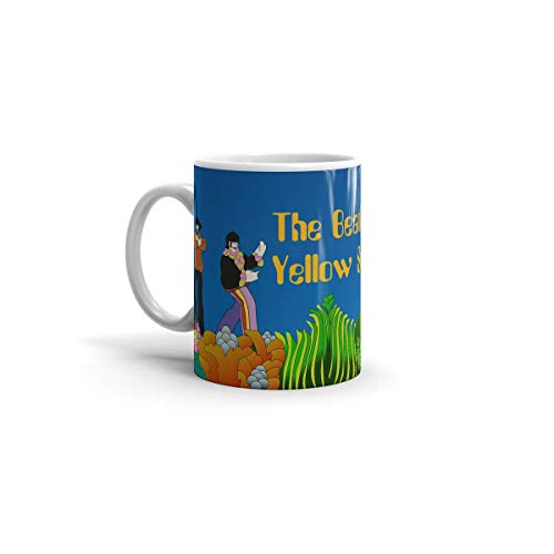 Ceramic White Coffee Mug The Tea Beatles Holidays Yellow Birthdays Submarine Cup Wedding Party Travel 11 Oz 15 For Office Home Dishwasher And Microwave Safe