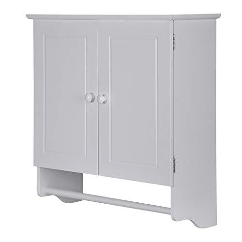 TKI-S Bathroom Wall-Mounted Cabinet Locker with Double-Door Adjustable Shelf Bathroom/Kitchen Wall-Mounted Hanging Shutter Door Built-in Locker, Medicine Cabinet (B)