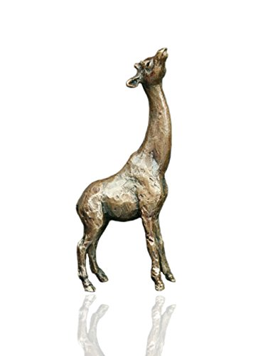 Giraffe–Bronze Miniatur Wildlife Figur–Butler & Peach.
