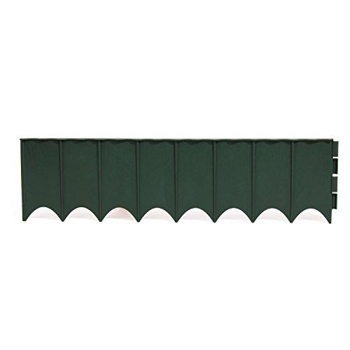 5,9 m Gartenbordstein Beetumrandung grün Rasenbord Kunststoff Wetterfest