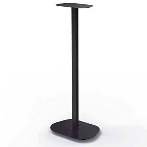 Hama Lautsprecherständer mit Kabelkanal (Boxenständer universal für Lautsprecher bis 10 kg, Lautsprecher Standfuß mit Spikes, Speaker Stand Höhe 88 cm, mit auswechselbaren Auflageplatten) schwarz
