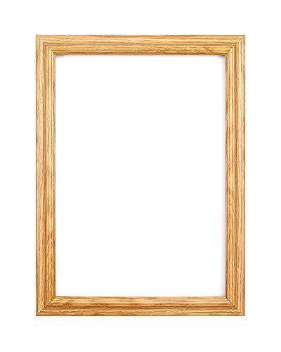 Élégant Cadre photo Affiche Cadre profil inversé cadre avec mont - avec Feuille de perspex - Moulure de 25 mm de largeur et 18 mm de profondeur - Cadre chêne brossé Couleur - Dimension 20,3 x 15,2 cm