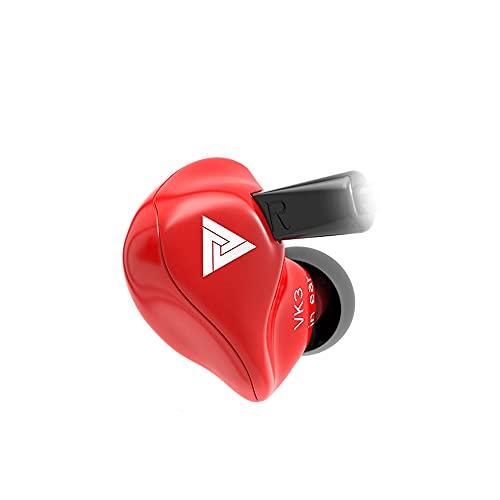 QKZ VK3 Auriculares intrauditivos Auriculares HiFi Auriculares con Cable de Graves claros con micrófono Auriculares de Graves Pesados de Metal