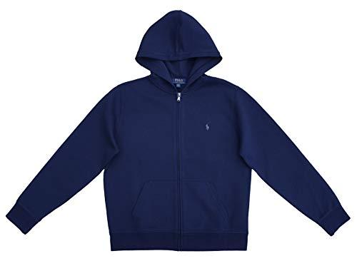 Ralph Lauren Full Zip Hoodie Jacke Sweatshirt für Jungen Blau Größe L (14-16 Jahre)