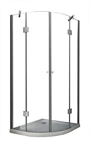Duschkabine ANGOLO 90 x 90 x 180 cm (Viertelkreis)