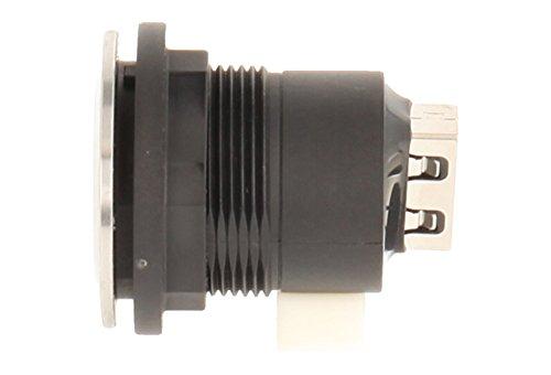 Schlegel 23.001.560 USB-Buchse Edelstahl, 1x USB-Buchse Typ B, 1x USB-Buchse Typ A