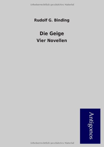 Die Geige: Vier Novellen