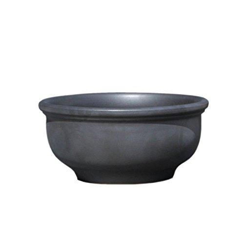 Hentschke Keramik Pflanztopf/Pflanzkübel frostsicher Ø 55 x 27 cm, Anthrazit, 011.055.70 Blumenkübel für Draußen + Innen - Made in Germany
