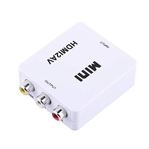 Tec-Digi Convertidor RCA a HDMI, 1080P RCA Compuesto CVBS AV a HDMI...