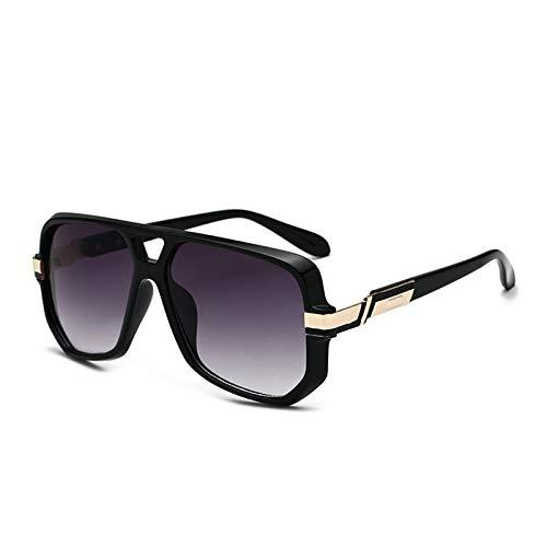 SHEEN KELLY Gafas de sol cuadradas retro para hombres, mujeres, gafas de sol de gran tamaño, gafas de sol clásicas con degradado de los años 80
