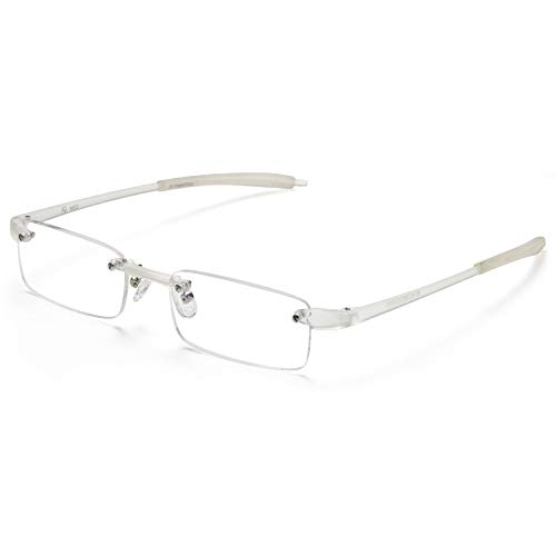 Rimless Reading Glasses - Men and Women Lightweight Readers 2.50