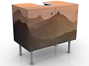 Washbasin – View from the Zugspitze 60x55x35 cm Design washbasin