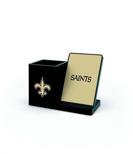 NFL New Orleans Saints Wireless Charger and Desktop Organizer, Team Color