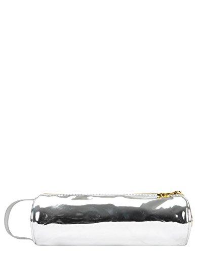 Mid Pac pencilcase tas goud, 22 cm, zilver (spiegel zilver)