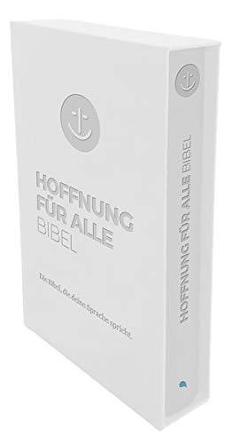 """Hoffnung für alle. Die Bibel - """"White Hope Geschenkbibel"""" - Großformat mit Blindprägung im weißen Schuber: Die Bibel, die deine Sprache spricht"""