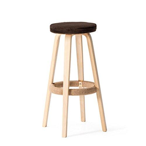 Tabouret en bois Tabouret de bar en bois massif/haut tabouret de bar tabouret à la maison chaise de bar, tabouret de bar tabouret boutique café (Couleur : #5)
