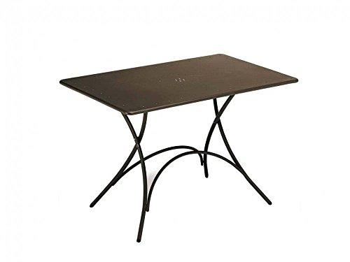 Unbekannt Emu 309034100 Pigalle Table Pliante 120 x 76 cm, en Acier recouvert par pulvérisation, Indien Marron