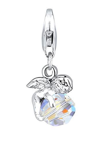 Elli Charm Elli Damen Charm mit Engel Anhänger Himmel und Swarovski Kristallen in 925 Sterling Silber