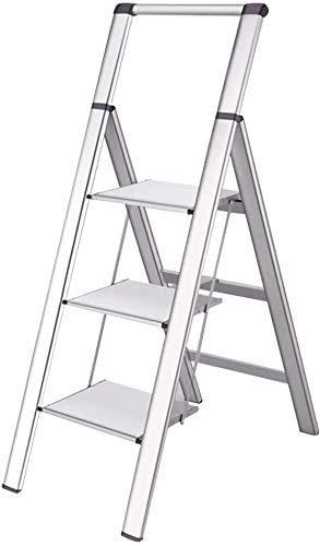 GUOXY Multifunktionsfalte Stufenleiter Beweglicher Aluminiumtrittschemel Haushalt Mit Stehleitern Plattform Leichten Hause Und Küche Trittschemel Mit Weit Pedale Werkzeugausrüstung Für Innen- Und Auß