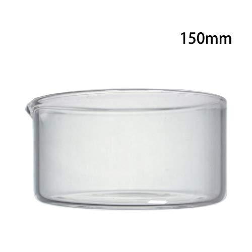 DADAKEWIN 150mm Kristallisierschale Mit Ausguss Flachem Boden Borosilicatglas 3.3 Hitzebeständige Abdampfschale Lab Dishes- 2er Pack (Size : 150mm)
