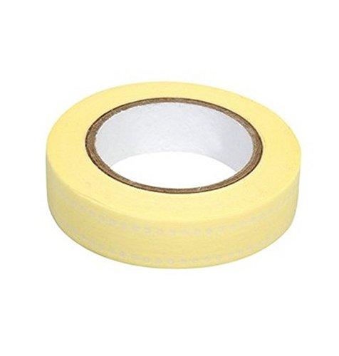 Ray - Washi tape jaune ligne pois blancs