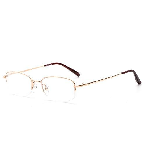 Suertree Lesebrille Randlose Sehhilfe Ultraleichte Brille für Damen Herren BM302 3.0X