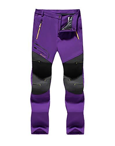Drying Den Pantalons imperméables pour Hommes en Plein air Randonnée en Plein air Pantalons de Camping Pêche Trekking Pantalons de Ski Women Purple 4XL