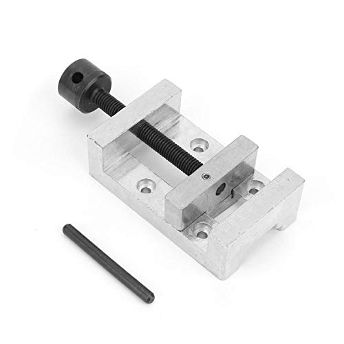 Bench Clamps, Metal Vice, Z012M Zinc Alloy Universal Mini Drill Press Vise Clamp for Fixing Work Pieces and Jewelry Walnut Nuclear Watch Repairing Clip