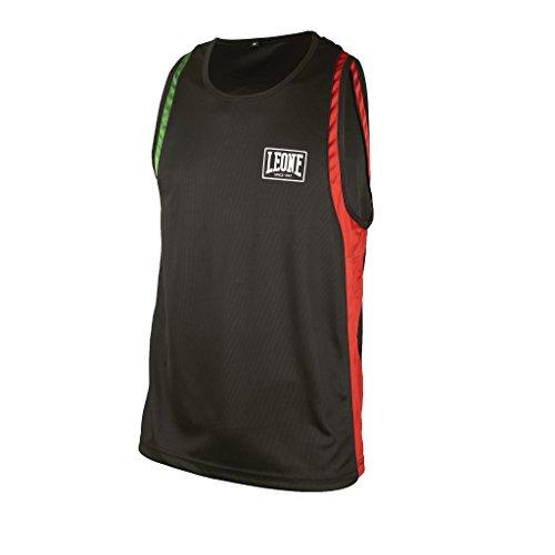 Leone 1947 AB721 Camiseta de Tirantes de Boxeo, Unisex – Adulto, Negro, M
