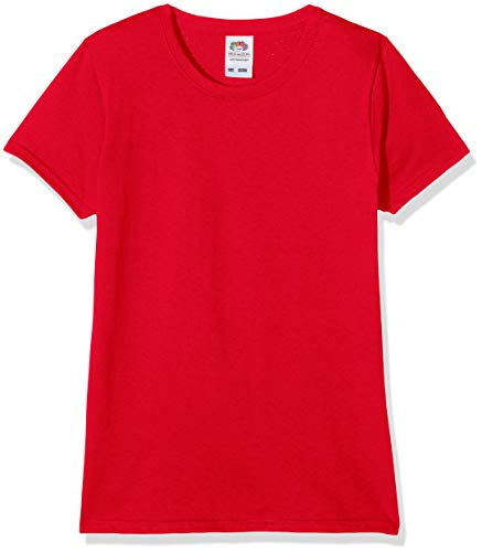 Fruit of the Loom Valueweight, T-Shirt Bambina, Rosso (Red 40), 7-8 anni (Dimensioni Produttore:30)