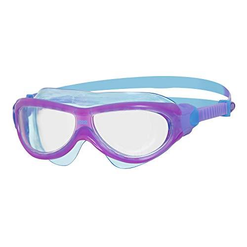 Zoggs Phantom Junior Mask, Occhialini da Nuoto Unisex Bambini, Viola/Blu/Transparente, 6-14 Anni