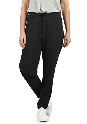 BlendShe Amerika Damen Stoffhose Lange Hose Bequeme Loose Fit Hose, Größe:M, Farbe:Black Solid (20101)