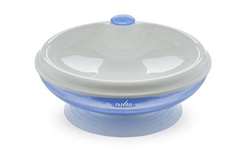 Nuvita NU-PPPL0025 1427 Piatto caldo con Ventosa, Azzurro/Blu