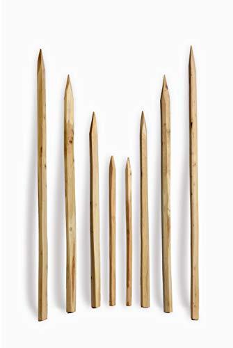 Gespaltener Akazienpfosten 200 cm - Zaunpfosten Robinien Holz Natur Zaun Pfahl Reebstock Pfosten