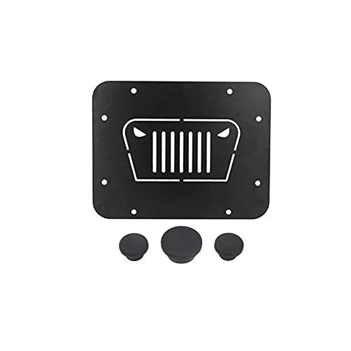 ZXIAOSTORE Ajuste para Jeep Wrangler JK JKU 2007-2017 Deportes y Rubicon Carrier de recambio de llanta Borrar placa de relleno Enchufe de tapón Accesorios para automóviles de goma ( Color : 4Pcs )